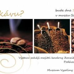 Pozvánka na výstavu o kávě