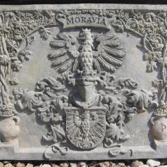 """Kamenná deska """"Moravia"""" v Dačicích"""